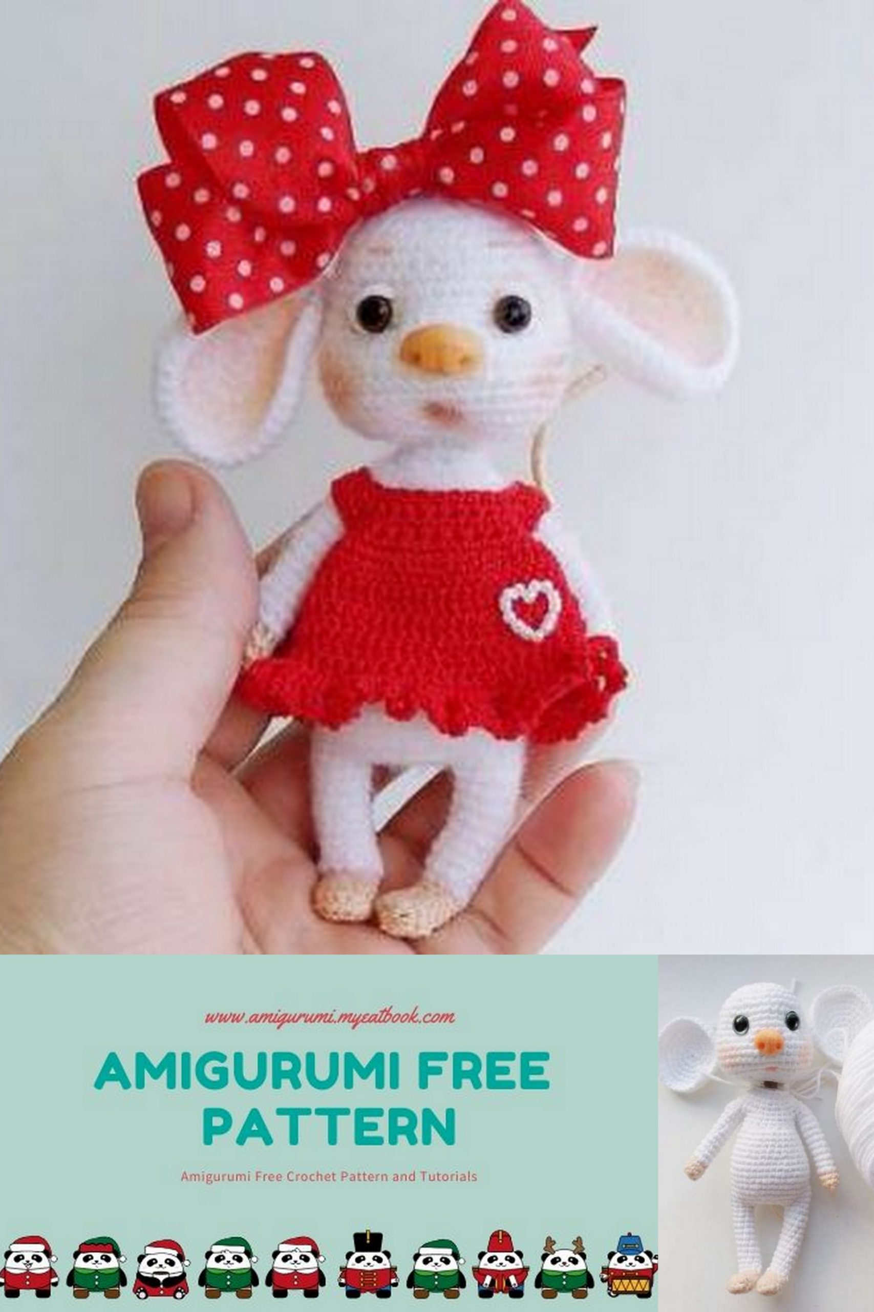 Crochet Baby Mouse Amigurumi Pattern - Amigurumi Crochet Animals ... | 2560x1707
