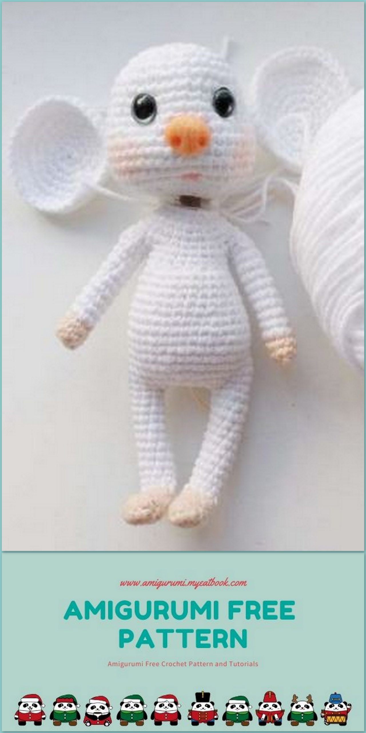 15+ Amigurumi Dog Free Crochet Pattern in 2020 | Free crochet ... | 2560x1280