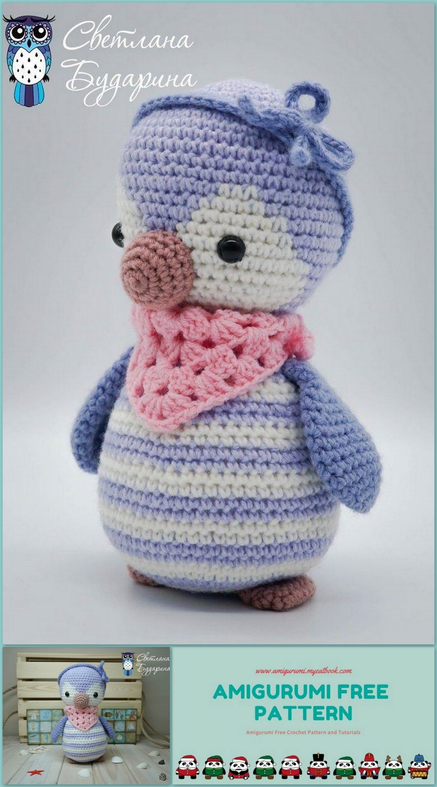Baby penguin amigurumi pattern - Amigurumi Today | 2560x1423