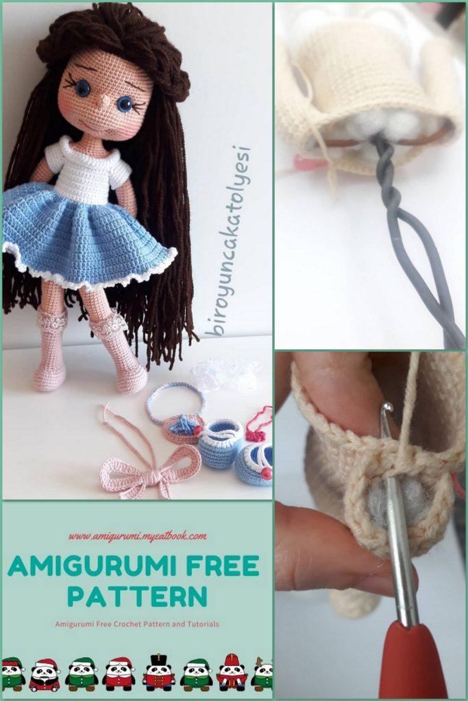 Basic Doll Body TUTORIAL // Amigurumi doll pattern - YouTube | 1024x683