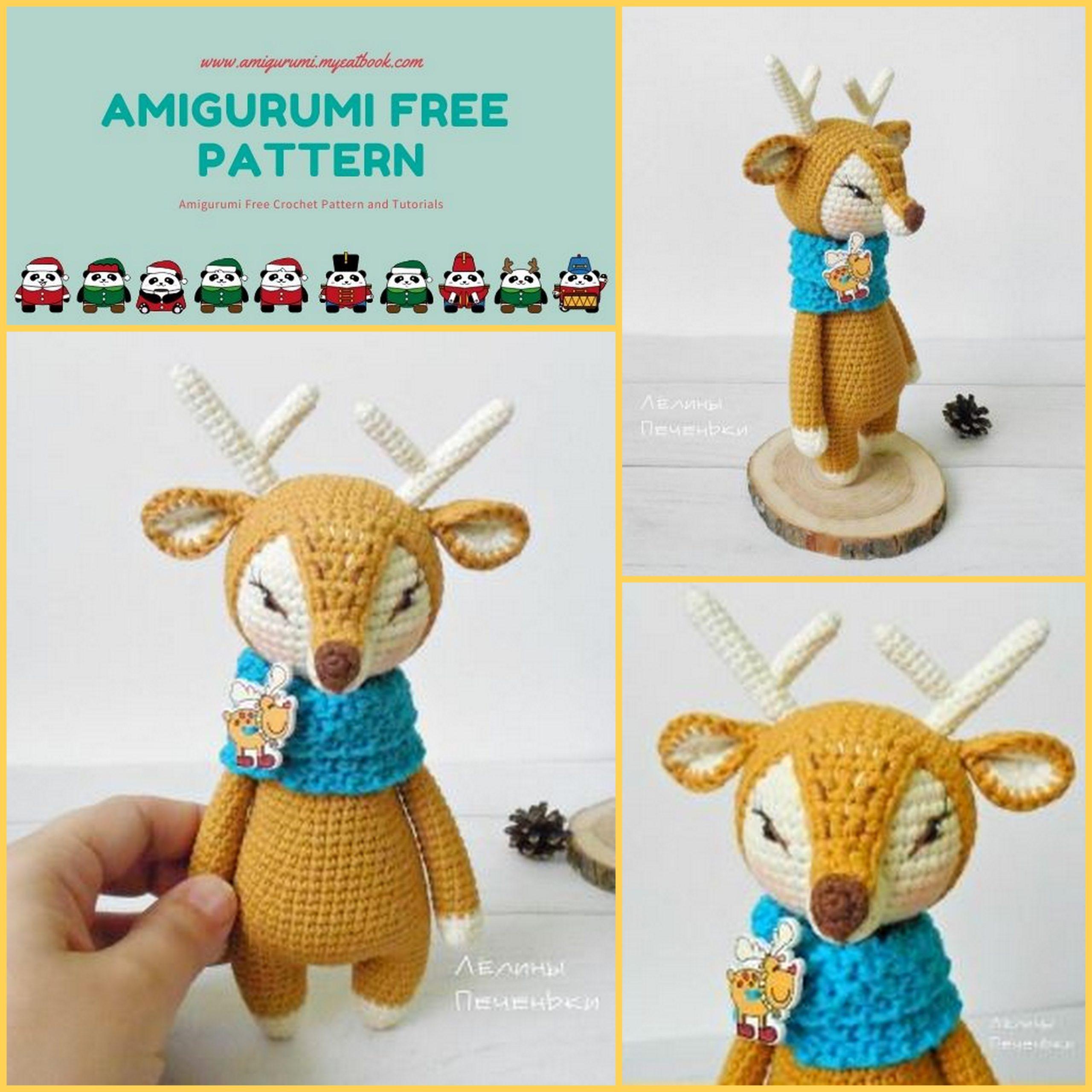 Amigurumi Reindeer - A Free Crochet Pattern | Christmas crochet ... | 2560x2560