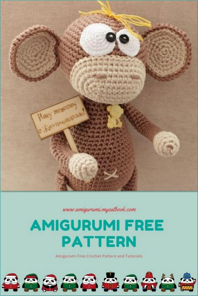Baby Monkey Knitting pattern by Rainebo | Animal knitting patterns ... | 1024x683