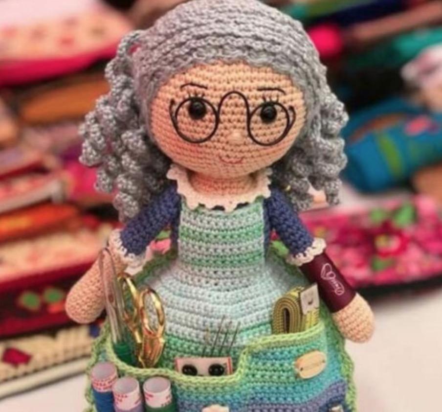 Little amigurumi doll crochet Naya: free pattern - Katkarmela о ... | 842x904