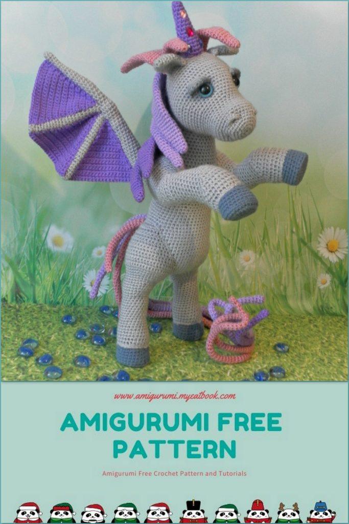 Horse, Unicorn & Pegasus crochet patterns | Crochet horse, Crochet ... | 1024x683