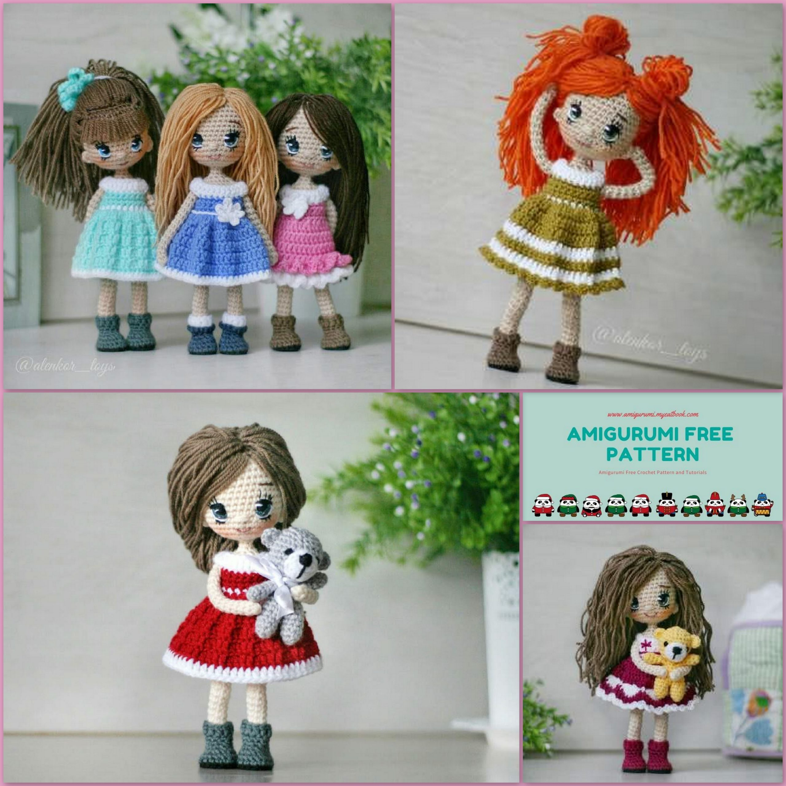Amigurumi Cute Doll Free Pattern (With images) | Crochet dolls ... | 2560x2560