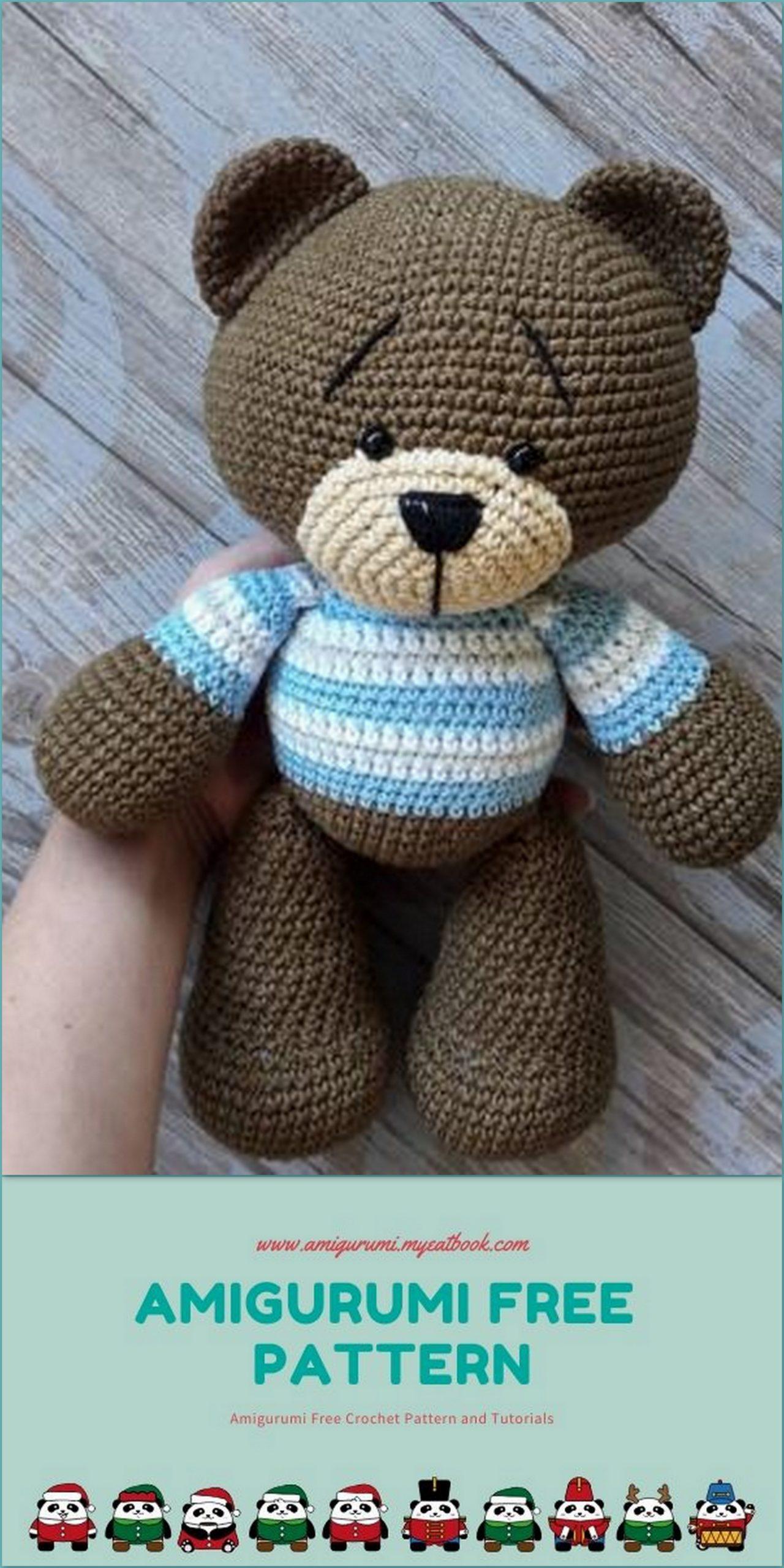 Happyamigurumi: Amigurumi Jointed Teddy Bear Villem and Marta: New ... | 2560x1280