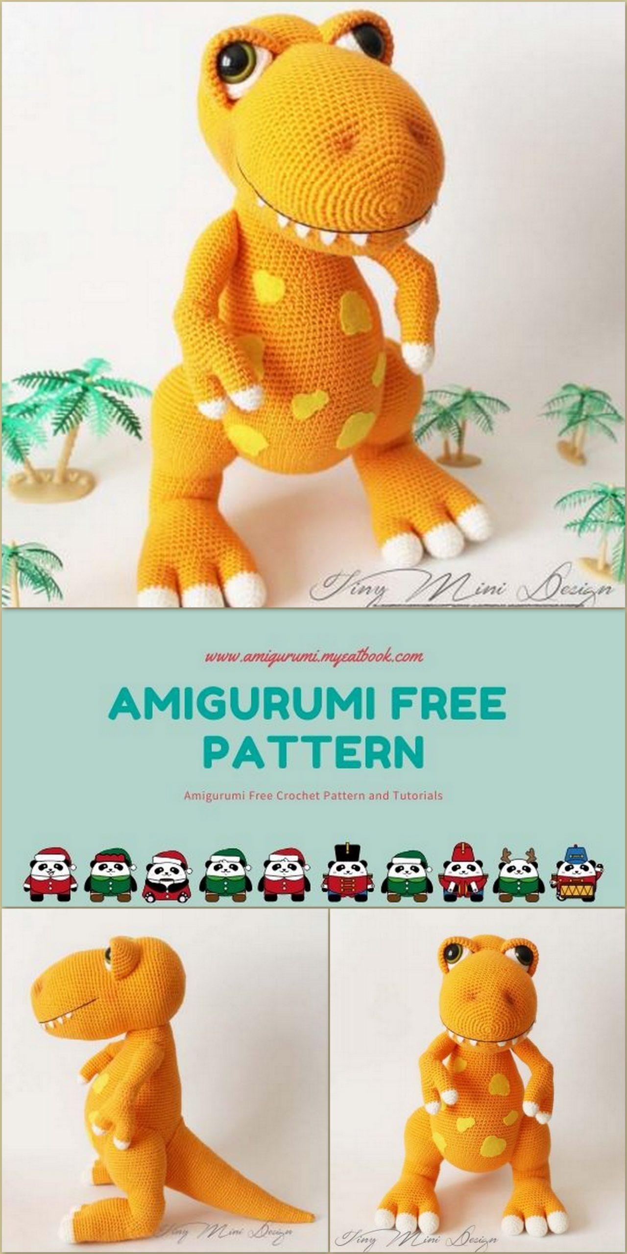 T-REX Dinosaur Crochet Animal Handmade Amigurumi Stuffed Toy Doll ... | 2560x1280