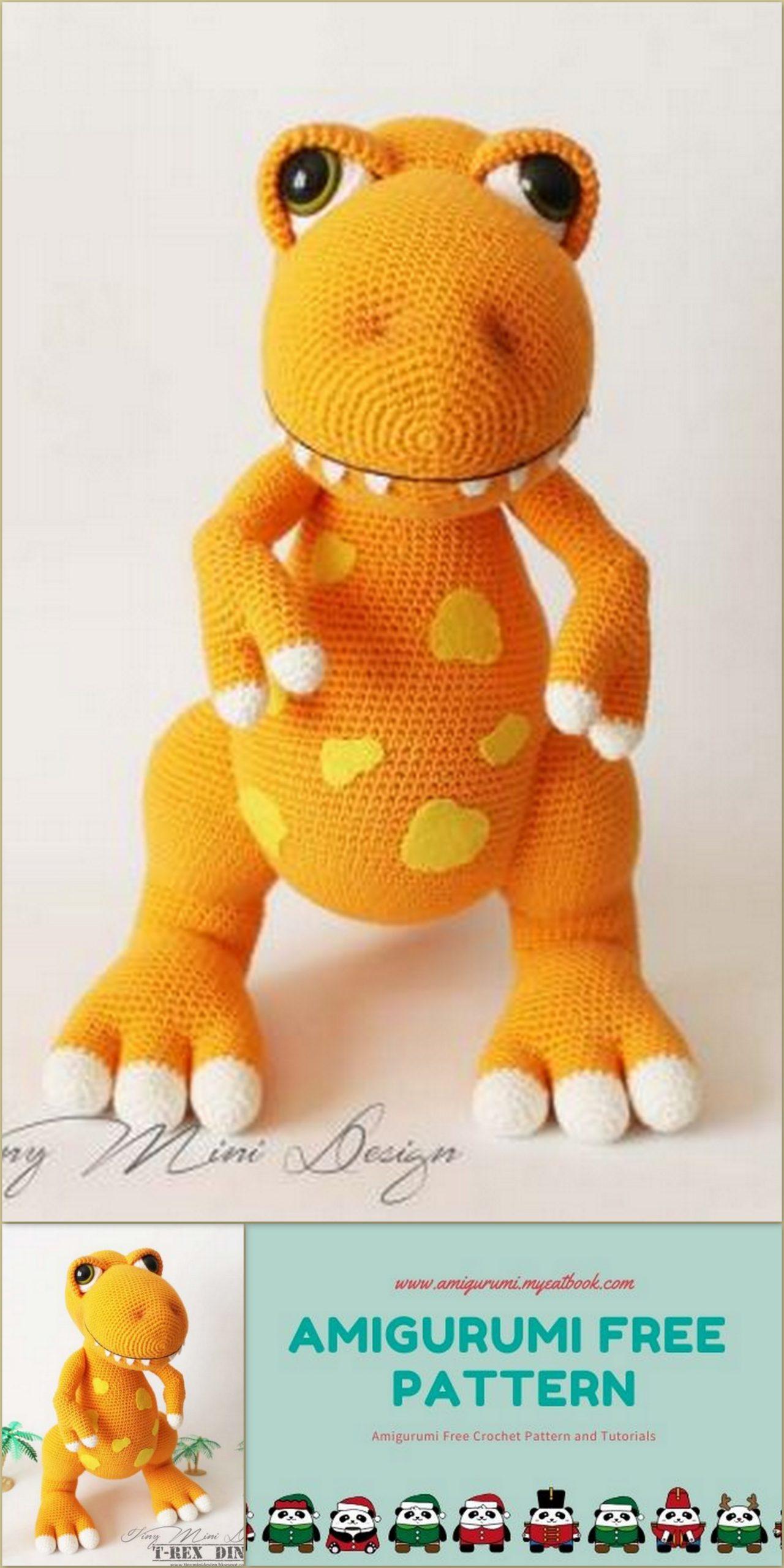 Crochet T-Rex Amigurumi Free Pattern- #Amigurumi; #Dinosaur; Free ... | 2560x1280