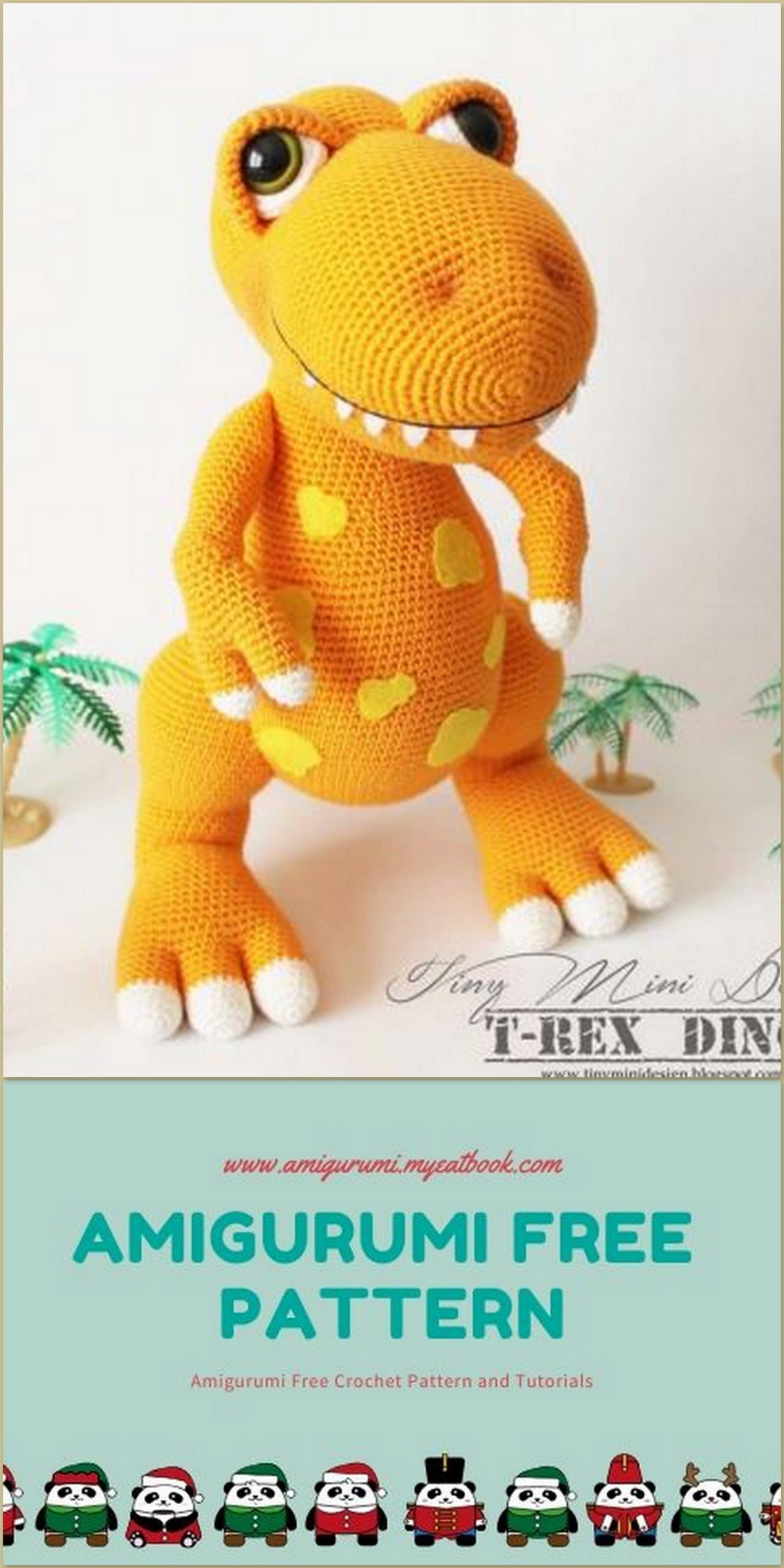 Amigurumi T Rex Dino Free Crochet Pattern Amigurumi Myeatbook Com