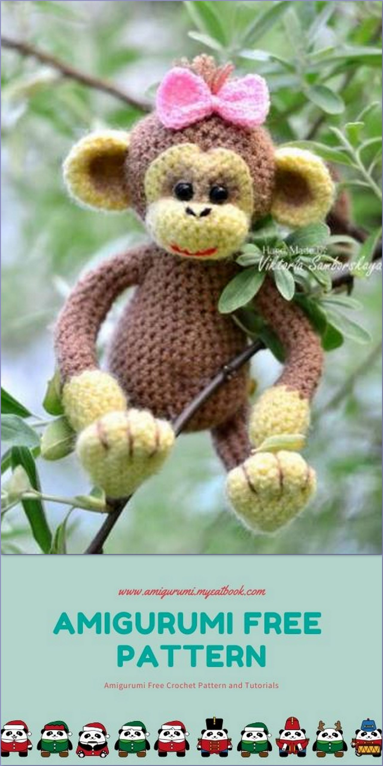 Free Monkey Amigurumi Crochet Patterns | 2560x1280