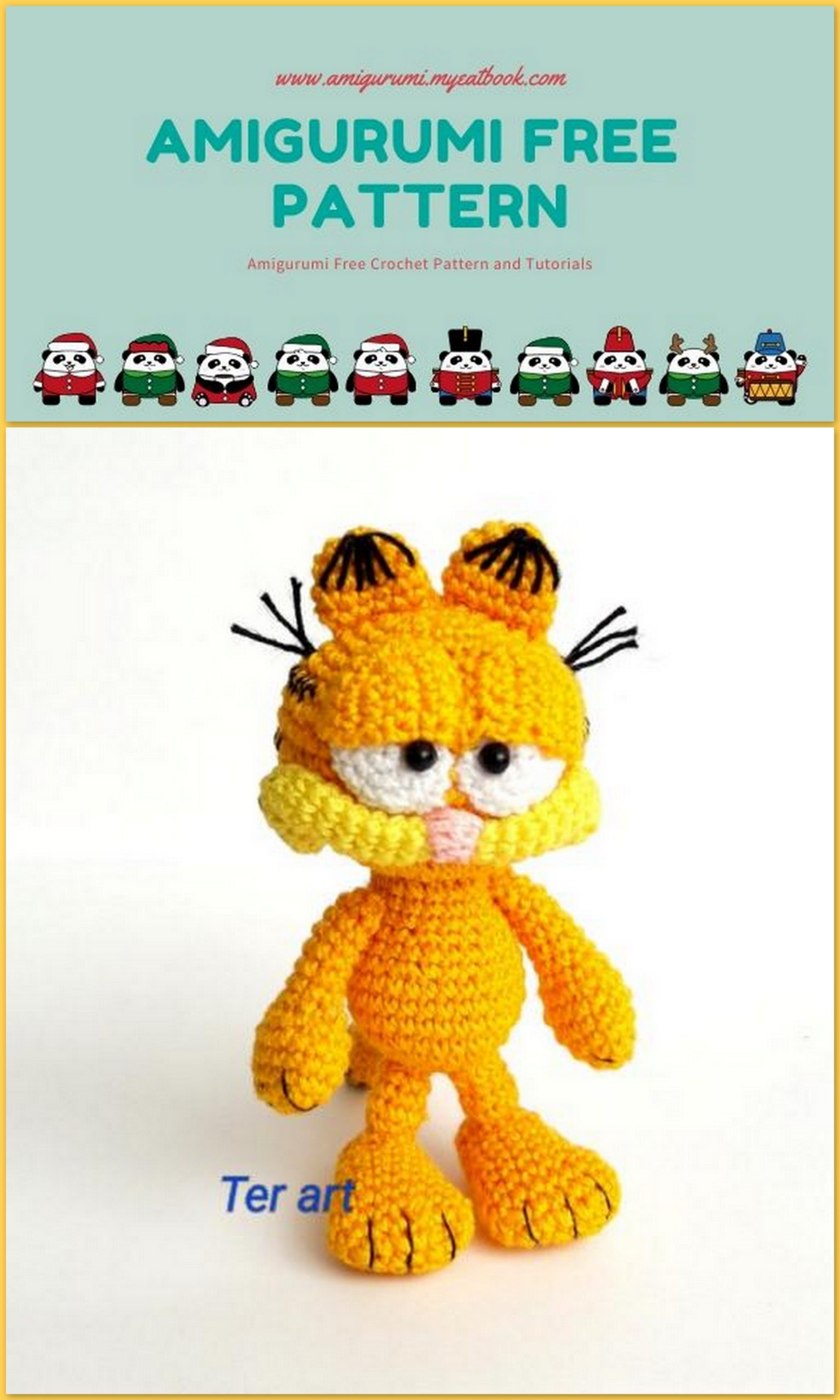Awesome Free Orange Amigurumi Cat Pattern - Free Amigurumi Pattern ... | 2560x1536
