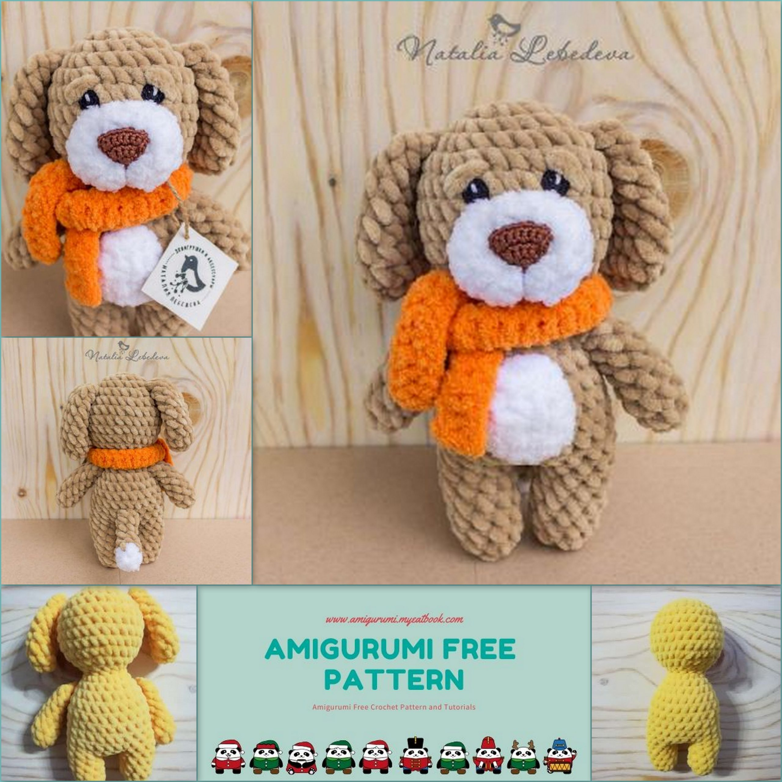 Amigurumi Dog Crochet Pattern | Supergurumi | 2560x2560