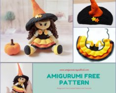 Amigurumi Free Crochet Pattern HALLOWEEN Doll
