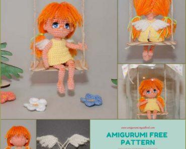 Amigurumi Angel on a swing Free Pattern