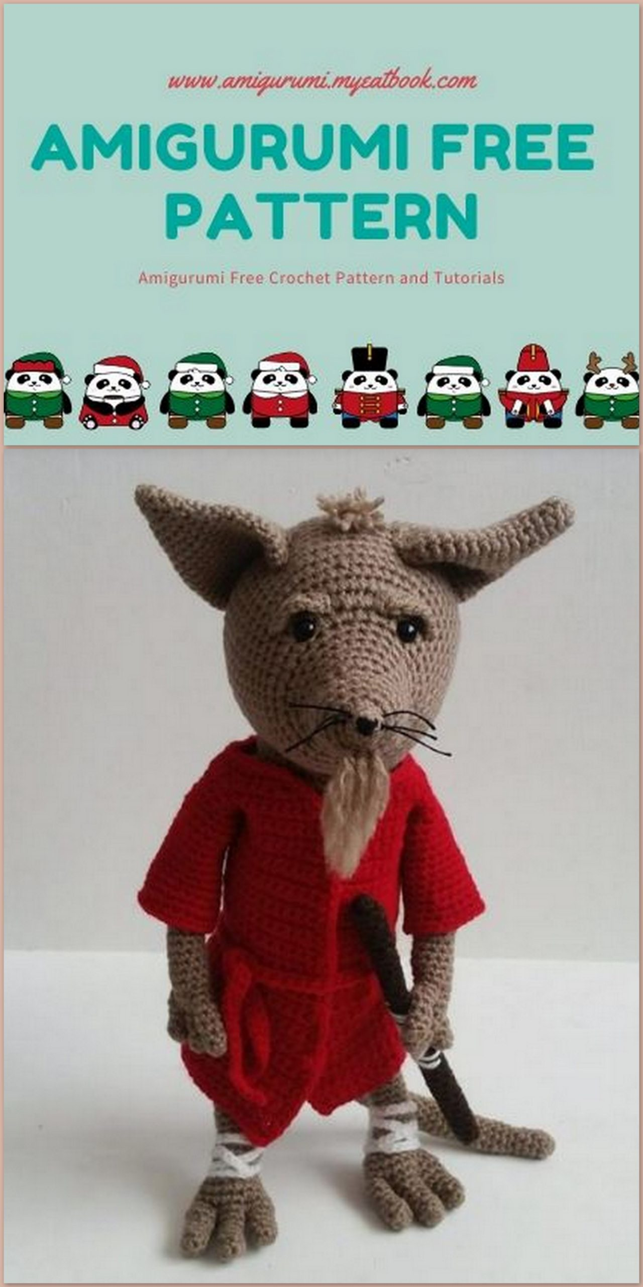 Mama Kangaroo Amigurumi Crochet Pattern | 2560x1280