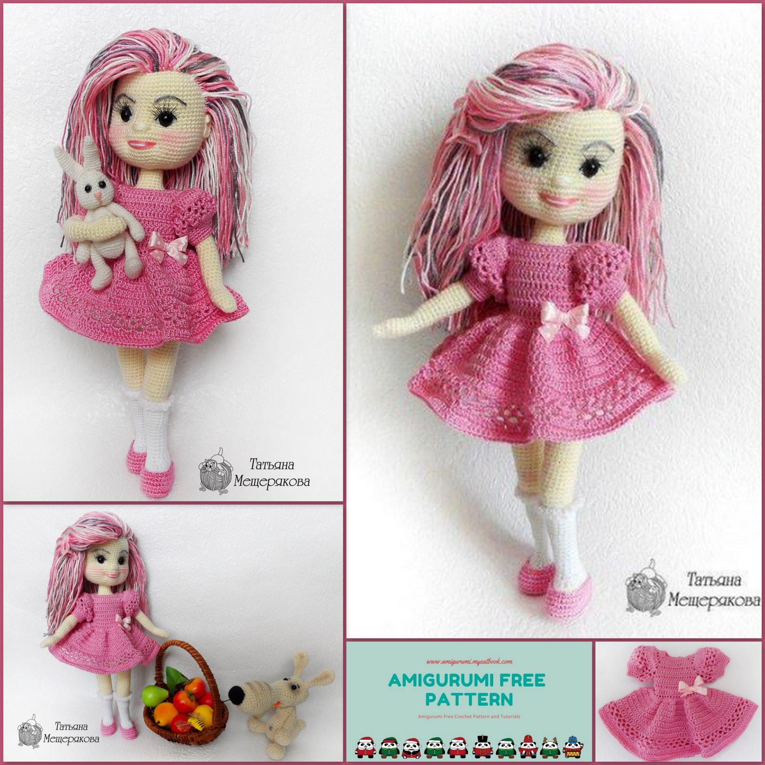 Handmade doll with curly hair Crochet amigurumi doll Interior doll ...   2560x2560