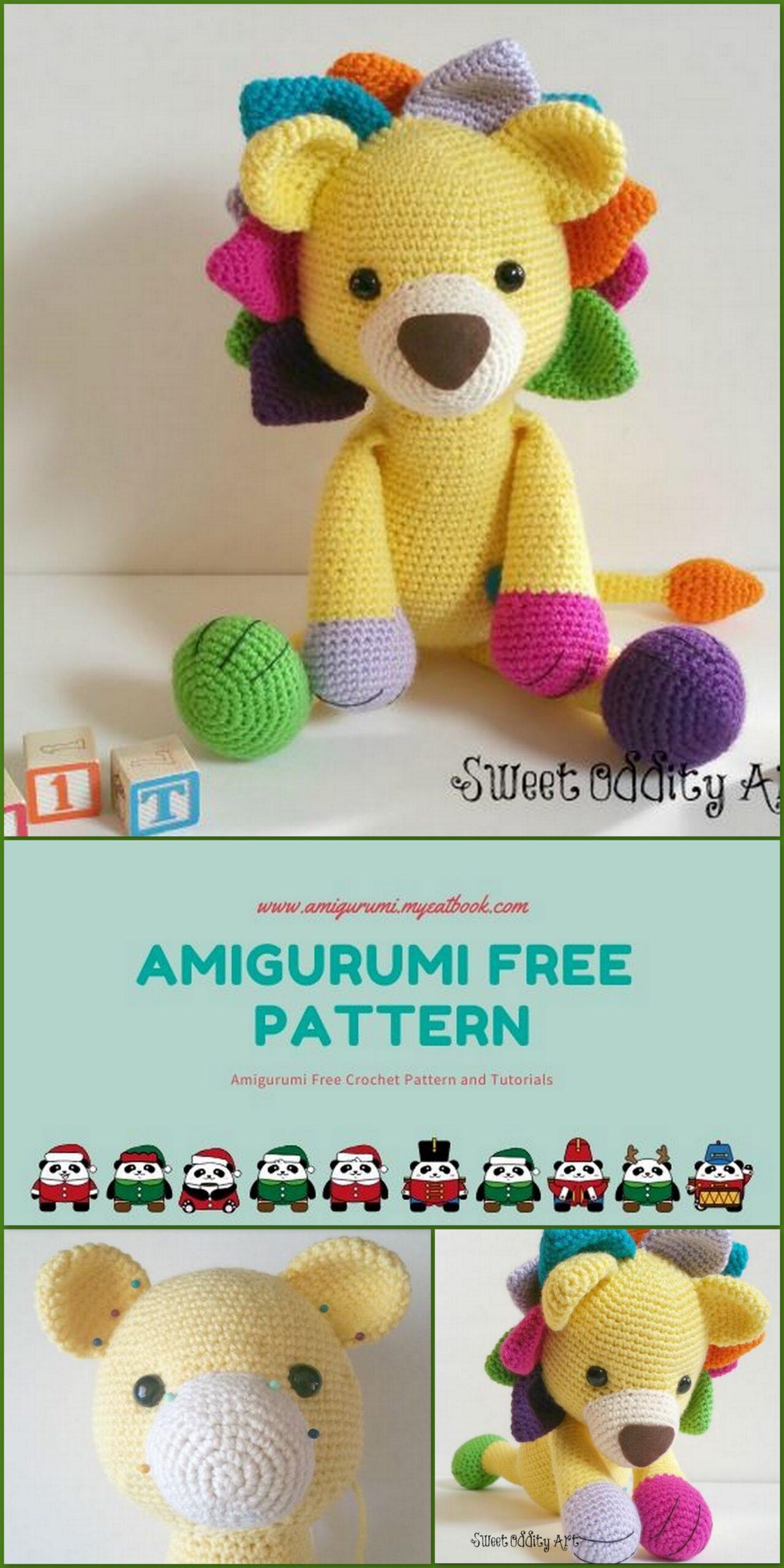 Laurence the Lion Free Amigurumi Pattern   Jess Huff   2560x1280